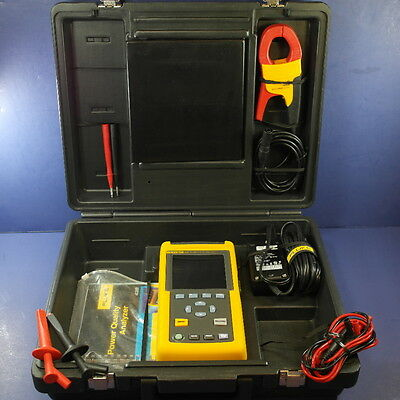 Fluke 43b Power Quality Analyzer, Excellent, Clamp Case Accessories! See Details