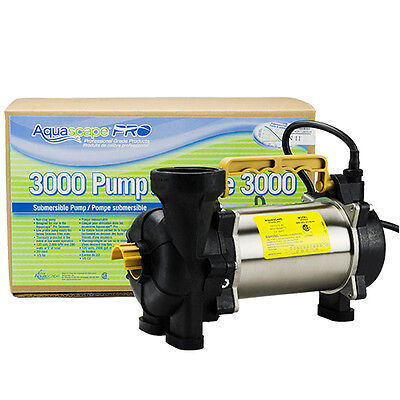 AquascapePRO 3000 Pump with BONUS Floating Pond Thermometer!