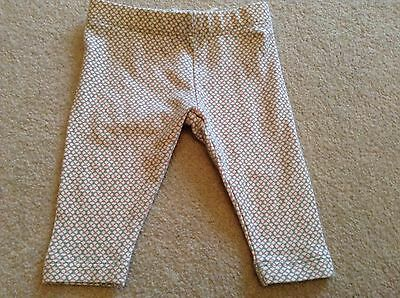 Baby girls Next beige brown leggings with pink flower pattern BNWT up to 1 month