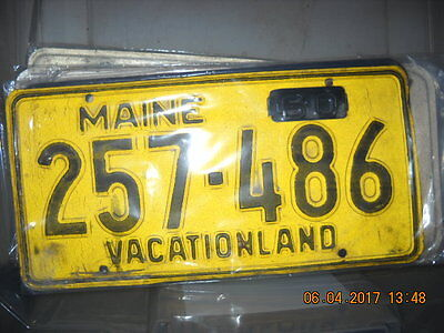 Antique Maine 1956 License Plate w/1960 Tag