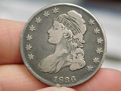 1836 Bust Half Dollar with Lettered Edge