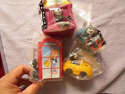 DQ Felix the Cat on the town Toys Complete set of 4 Dairy Queen