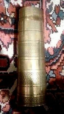 WWI 1914 1918 Trench Art Vase British shell