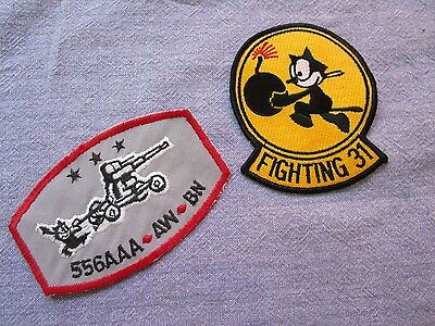 Two Felix the Cat military/Navy/Pilot patches