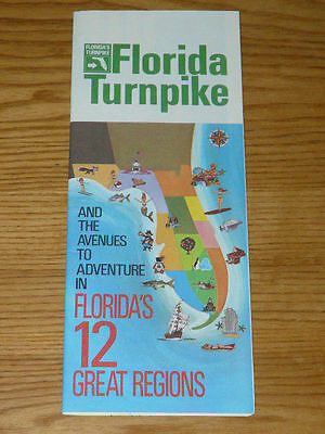 70's Flordia Turnpike and the Avenues to Adventure in Florida 12 Great Regions