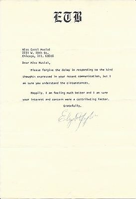 ELIZABETH TAYLOR Hand Signed 6.75x10 Typed Letter With COA