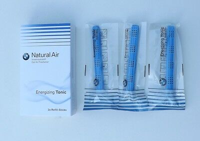 OEM BMW Natural Car Air Freshener Energizing Tonic Refill Sticks 83122285675