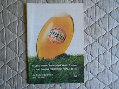 Stones Bitter Premiership & Second Division Premiership Final Programme 1987