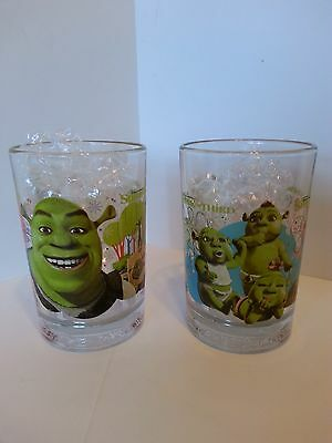 Lot Of 2 Shrek The Third Mcdonald's 2007 16Oz Glasses (English & French)