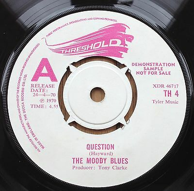 Moody Blues - Question - Threshold TH 4 - Rare UK Demo