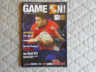 London Broncos V Hull Fc Super League Matchday Magazine 2005