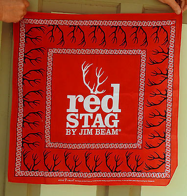 Hav-A-Hank- Hankie-Red Stag--By Jim Beam-Brand New!!-Jim Beam Whiskey Ad
