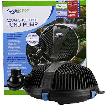 Aquascape AquaForce 3600 Pump  with BONUS Floating Pond Thermometer!