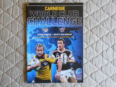 Leeds Rhinos V Manly Sea Eagles World Club Challenge Match Programme 2009