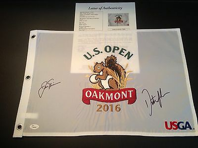 ,Dustin Johnson{#1 in World}Jack Nicklaus{#1 of All Time}Signed US Open JSA/LOA