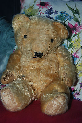 NOW REDUCED!! RARE UNUSUAL Vintage Antique Old Teddy Bear Deans?? Chad Valley??
