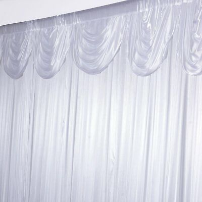20ft x 10ft White Classic Double Drape BACKDROP Wedding Party Photobooth Curtain