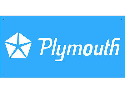 Advertising Display Banner for Plymouth Sales Service Parts