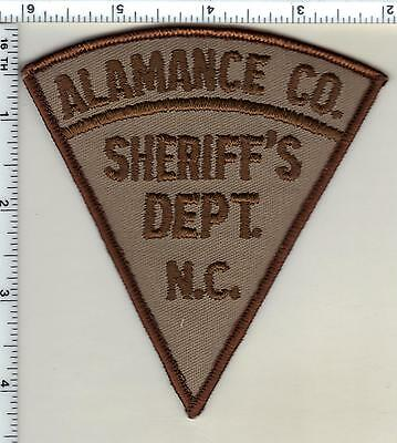 Alamance County Sheriff's Dept. (North Carolina) Shoulder Patch from 1986