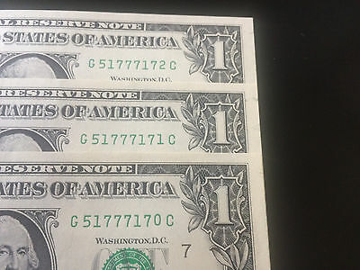 2013 1 Federal Reserve Note Error (3 Notes)
