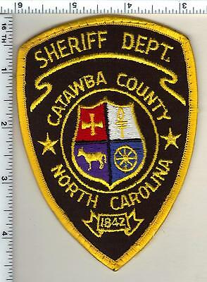 Catawba County Sheriff's Dept. (North Carolina) Shoulder Patch from 1986