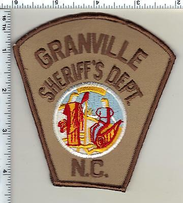Granville County Sheriff's Dept. (North Carolina) Shoulder Patch from 1986