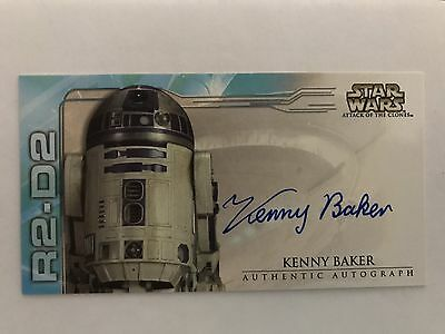 STAR WARS TOPPS ATTACK OF THE CLONES WIDEVISION KENNY BAKER R2-D2 AUTOGRAPH Card