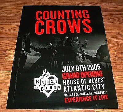 RARE Promo COUNTING CROWS Opening Night Poster HOUSE OF BLUES Atlantic City NJ