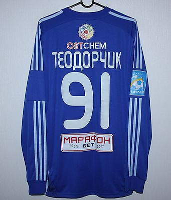 Dynamo Kiev Ukraine away match worn or issue shirt 2015 #91 Teodorczyk Adidas