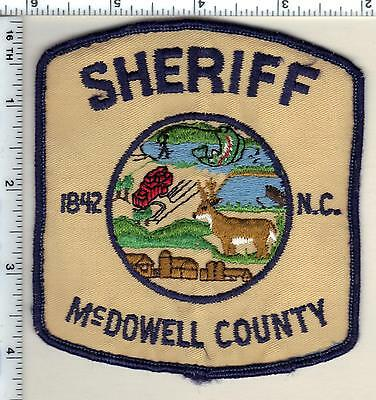 McDowell County Sheriff's Dept. (North Carolina) Shoulder Patch from 1987
