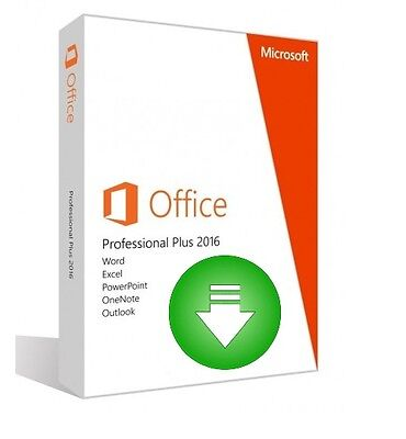 Microsoft Office 2016 Professional Plus - FULL RETAIL - FOR PC WINDOWS