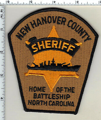 New Hanover County Sheriff's Dept. (North Carolina) Shoulder Patch from 1987