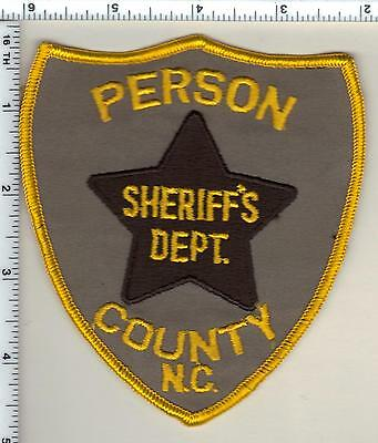 Person County Sheriff's Dept. (North Carolina) Shoulder Patch from 1987