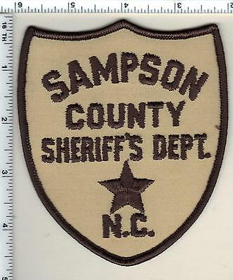 Sampson County Sheriff's Dept. (North Carolina) Shoulder Patch from 1987