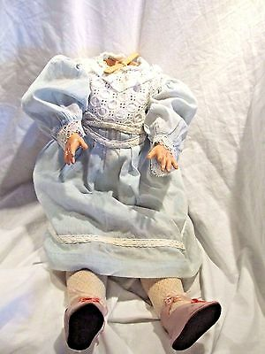 Antique Paper Mache German Doll Body Jointed w/Clothing
