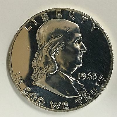 1963 50C (Proof) Franklin Half Dollar Gem Proof