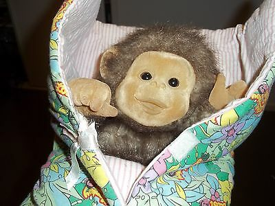 Vintage Little Monkey Lost Hosung Companies Hand Puppet Plush Toy