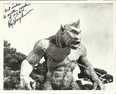 RAY HARRYHAUSEN Hand Signed 8x10 Autographed Photo With COA - ODYSSEY - CYCLOPS