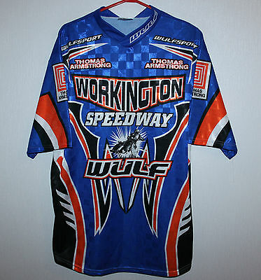 Workington Speedway Wulfsport racing shirt Thomas Armstrong Size L