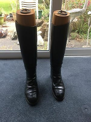 leather riding boots, boot lasts and boot jack - womens size 8