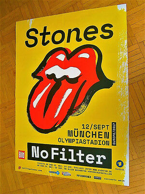 neu 2017 rolling stones konzert tour promo poster no filter m nchen eur 44 00 picclick de. Black Bedroom Furniture Sets. Home Design Ideas
