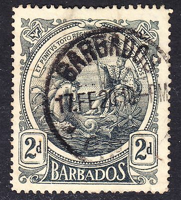 Barbados Scott 130  F to VF used with a splendid SON cds.