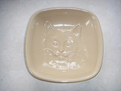 Mason and Cash Embossed Pottery Cat Dish