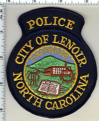 City of Lenoir Police (North Carolina)  Shoulder Patch - from 1990