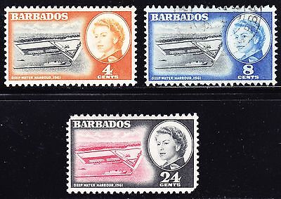 Barbados Scott 251-53  complete set  F to VF mint & used.