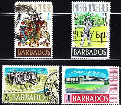 Barbados Scott 290-93  complete set  F to VF mint & used.