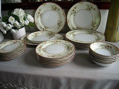 25 Piece set of STS Handpainted China Made in Japan