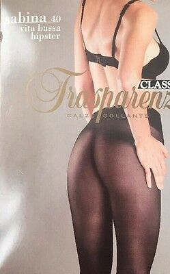 Trasparenze 40 den SHEER to WAIST G-STRING effect Pantyhose/Tights XL * RED *