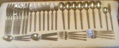 Vintage Flatware Dynasty Stainless Japan, 39 pc. (Mexicaly Rose Interpur)