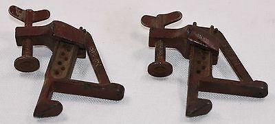 Pair of Vintage Stanley No. 203 Bench Bracket Clamps (INV D620)